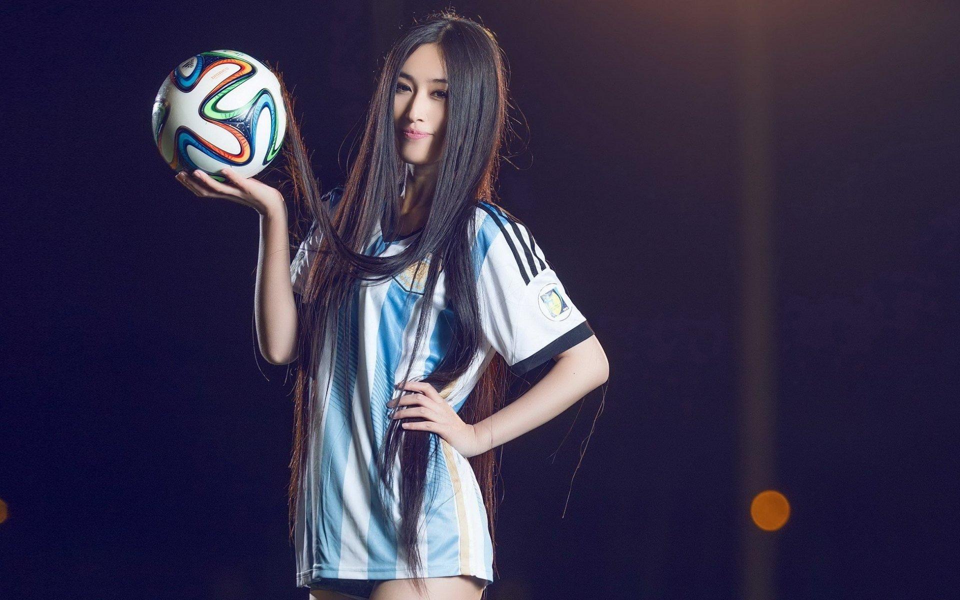 Soccer Girls Wallpaper Free: Oriental Asian Girl Girls Woman Women Female Model Sports