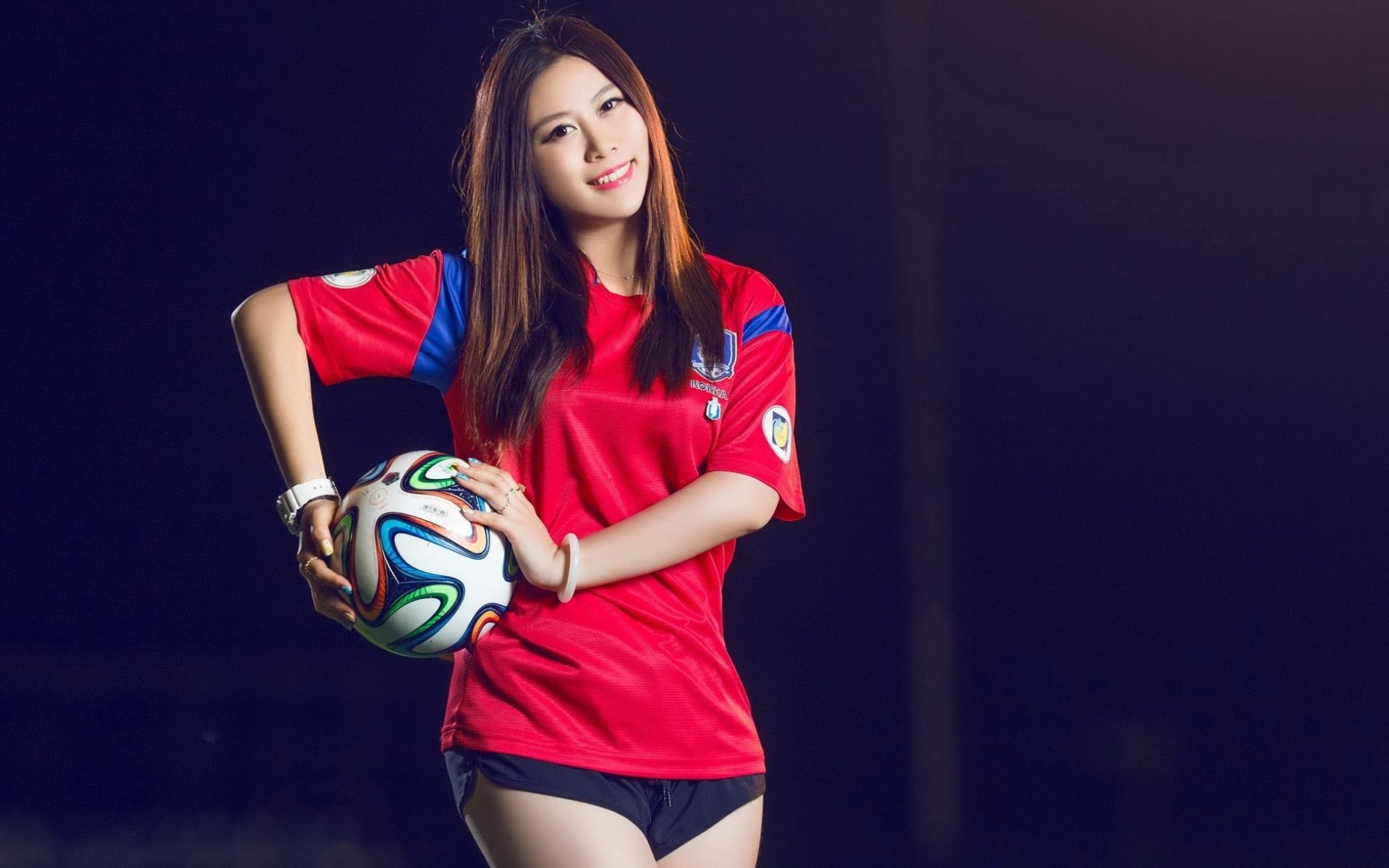 American Football Background Girl: Oriental Asian Girl Girls Woman Women Female Model Sports