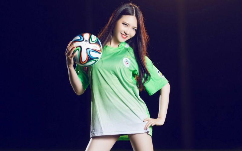 oriental asian girl girls woman women female model sports soccer cheerleader kpop k-pop pop h wallpaper