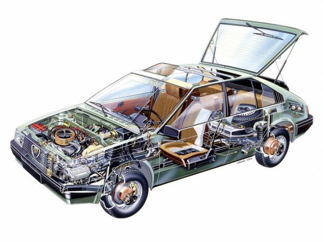 Alfa Romeo Arna SL 1 cars technical cutaway wallpaper