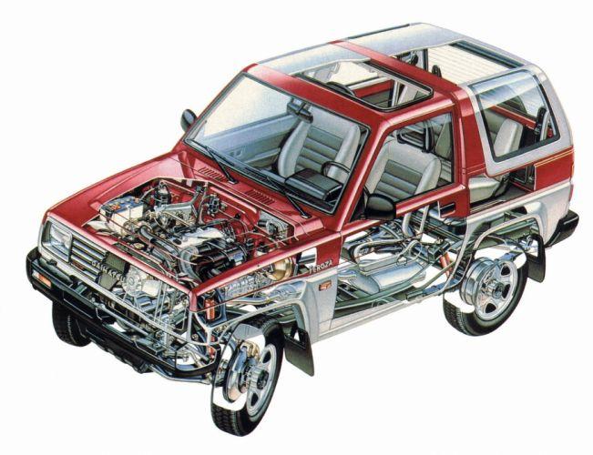 Daihatsu Feroza 1989 cars technical cutaway wallpaper