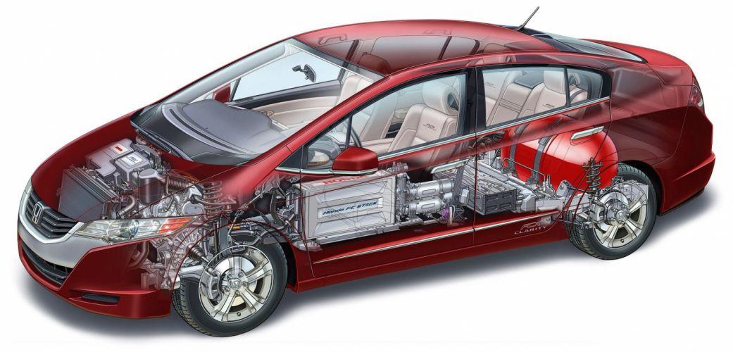 Honda FCX Clarity cars technical cutaway wallpaper