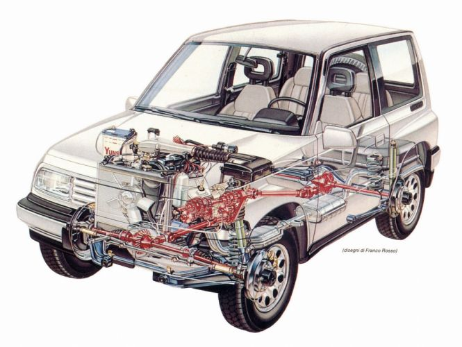 Suzuki Vitara 1989 cars technical cutaway wallpaper