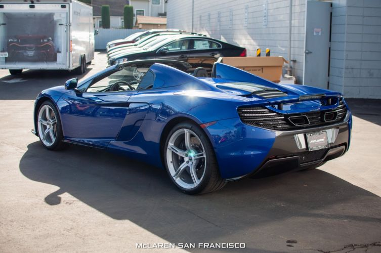 mclaren 650S Spider cars Aurora Blue wallpaper