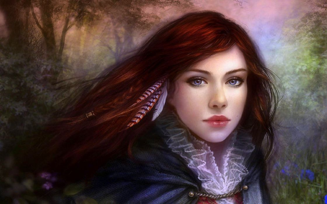 fantasy girl long hair beautiful wallpaper