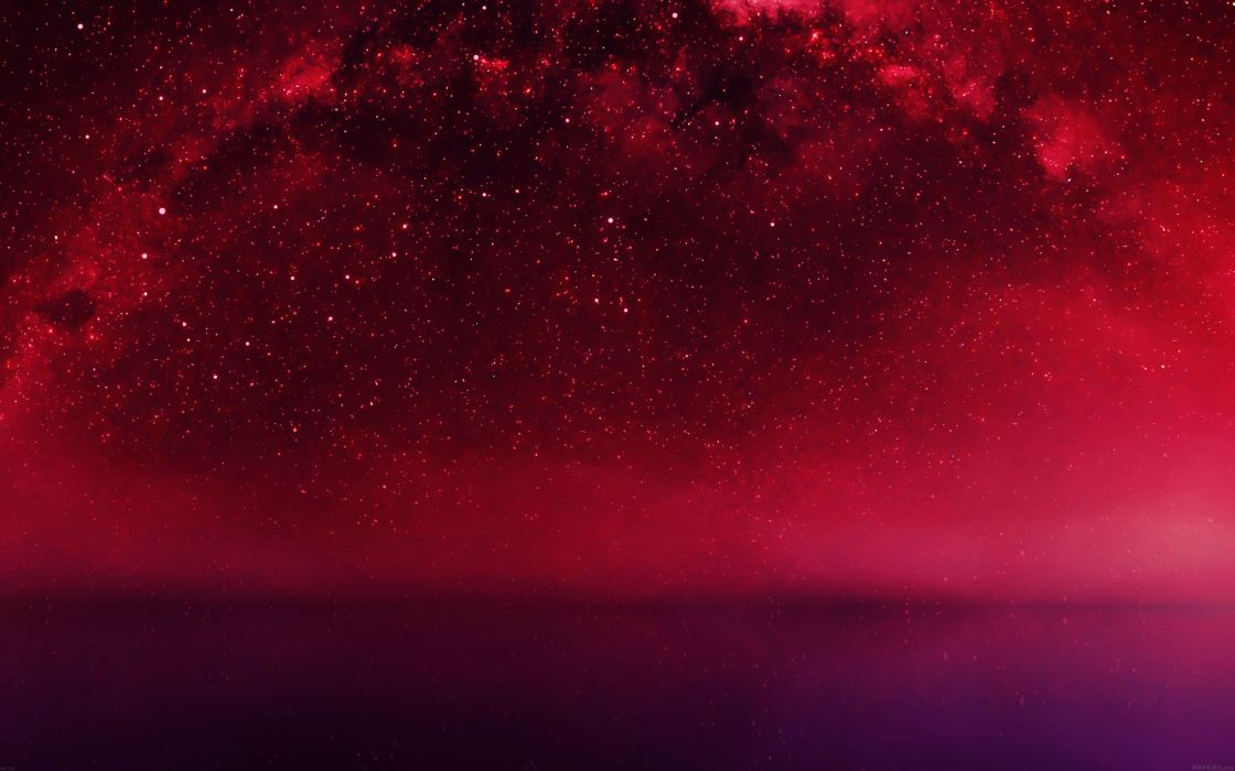 cosmos-red-night-live-lake-space-starry- wallpaper