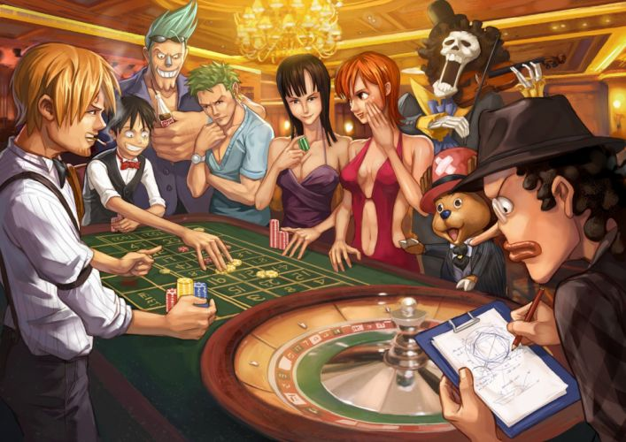 Exciting One Piece Anime Digital Artworks wallpaper
