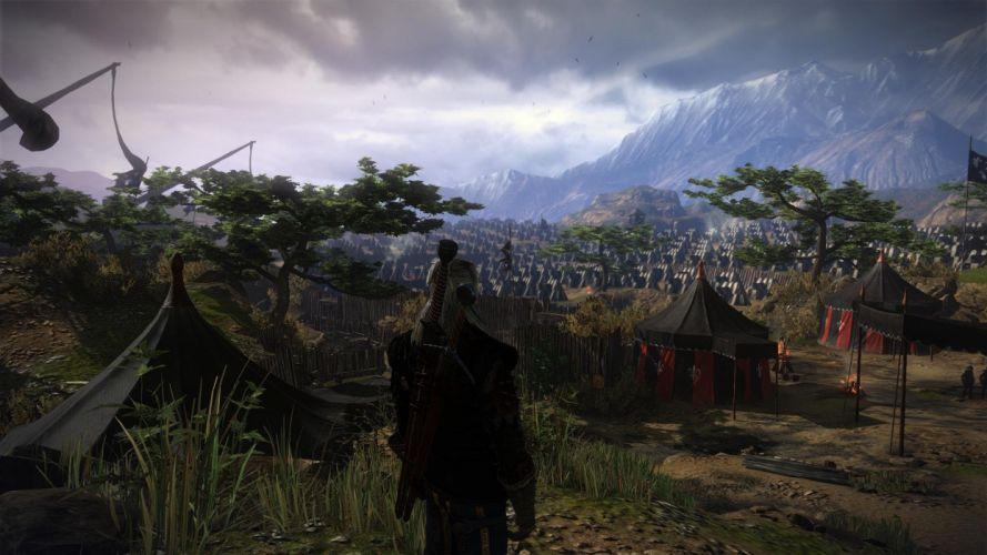 The Witcher 2 Assassins of Kings Geralt Camp wallpaper