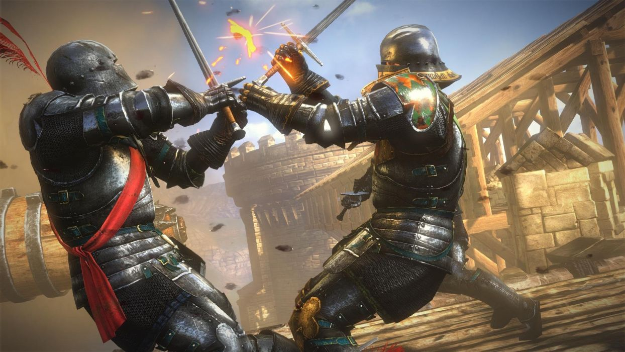 The Witcher 2 Assassins of Kings Knights La Valette Sword Fight wallpaper