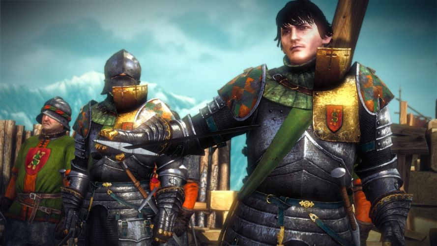 The Witcher 2 Assassins of Kings Arjan La Valette Knight Soldier Surrender wallpaper