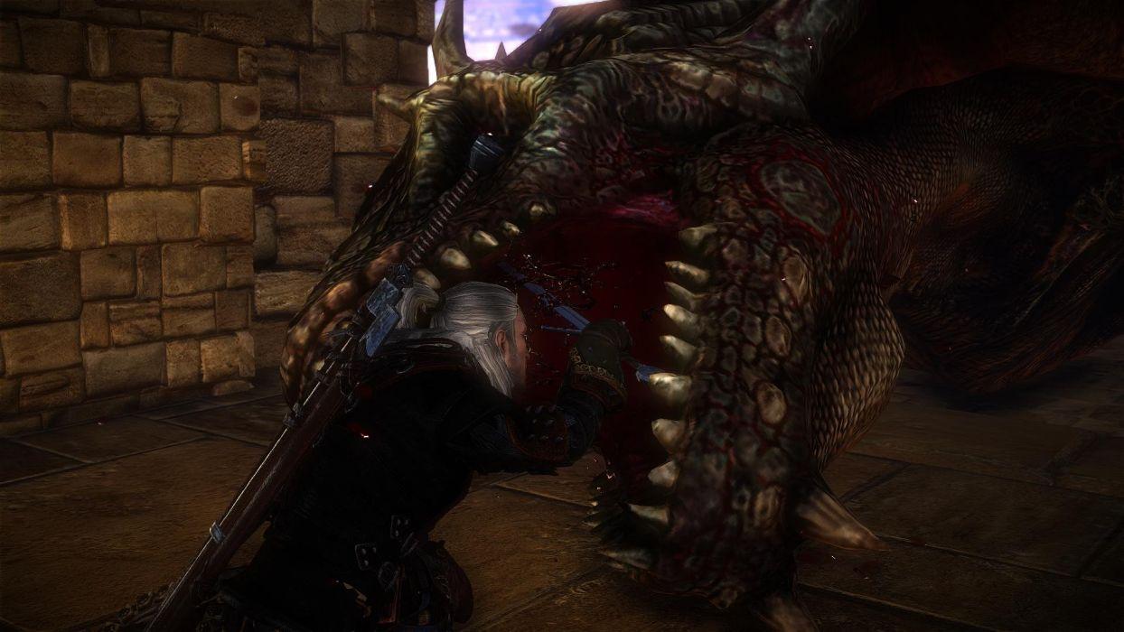 The Witcher 2 Assassins of Kings Geralt Dragon wallpaper