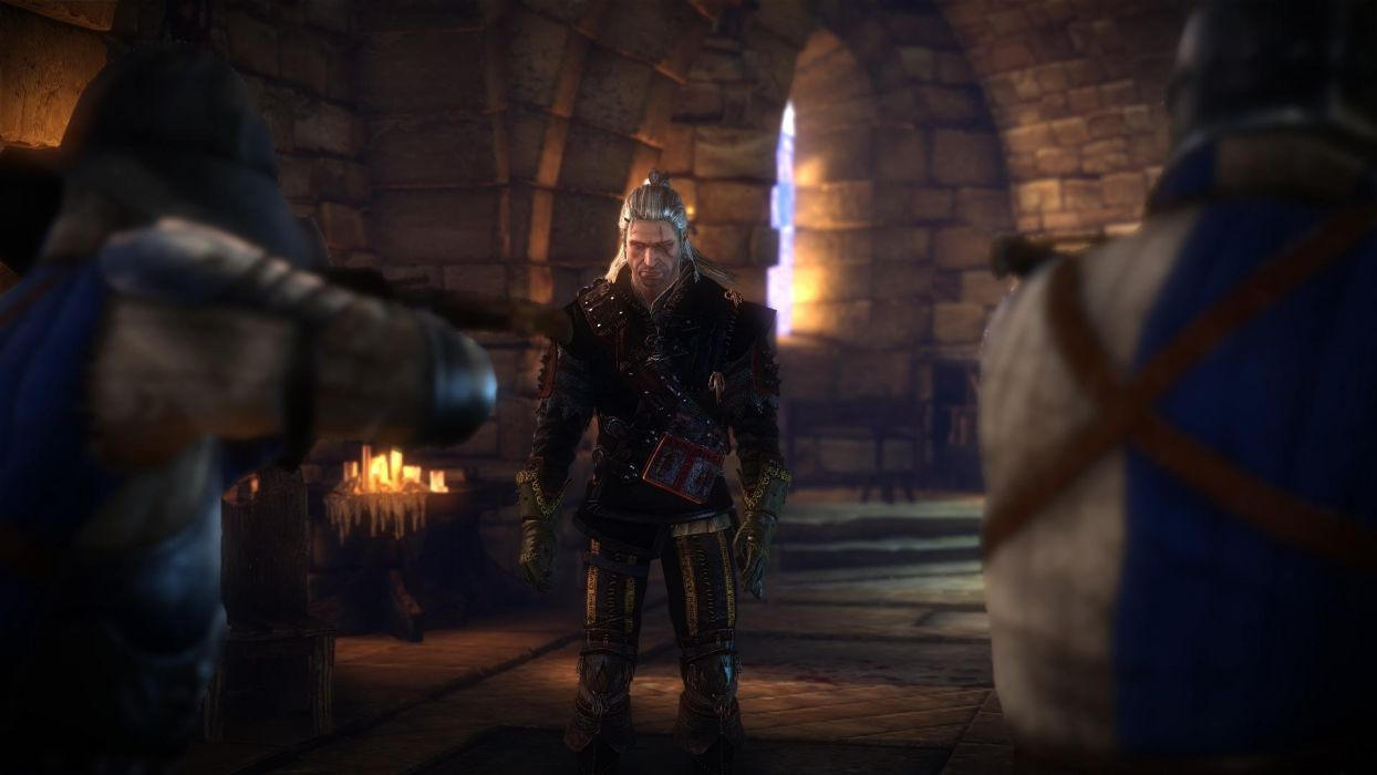 The Witcher 2 Assassins of Kings Geralt Soldiers Crossbows wallpaper