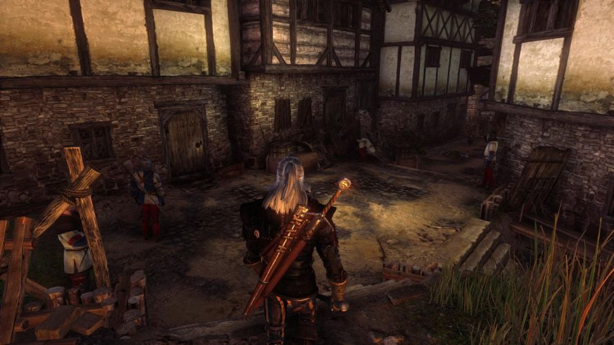 The Witcher 2 Assassins of Kings Geralt Soldiers wallpaper