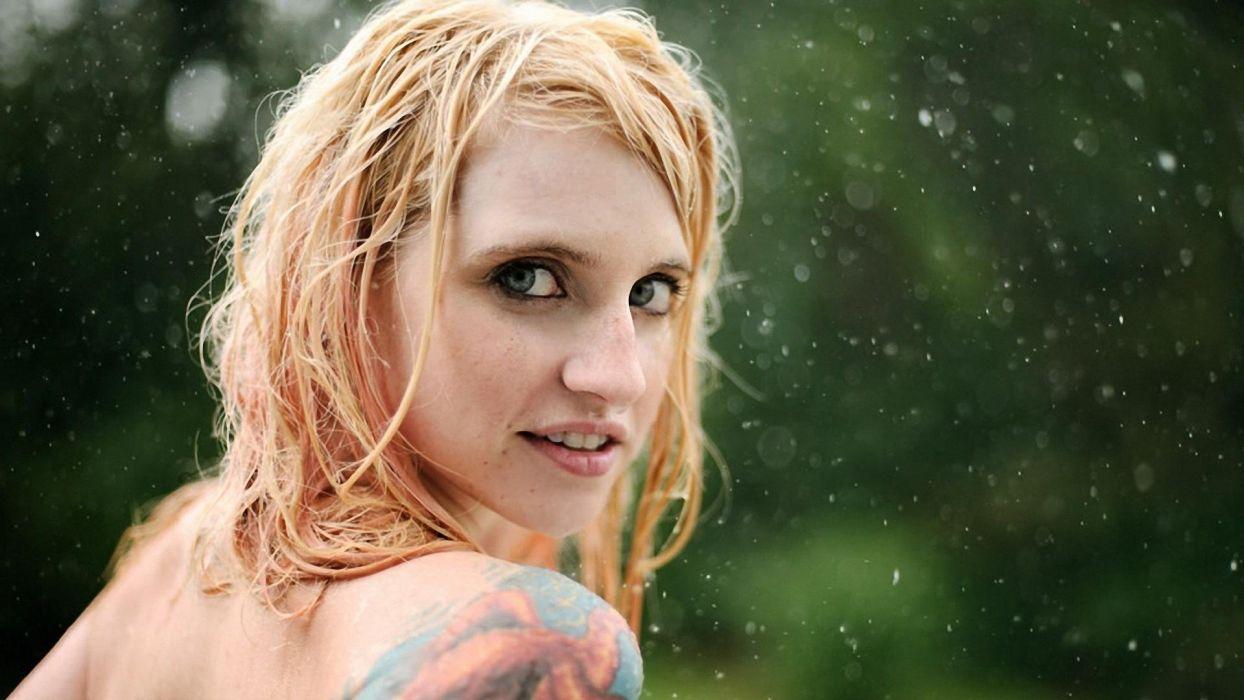 FACE - girl women blonde tatoo wallpaper