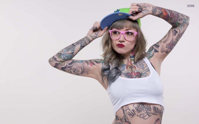 SENSUALITY - girl women blonde tattoo punk wallpaper