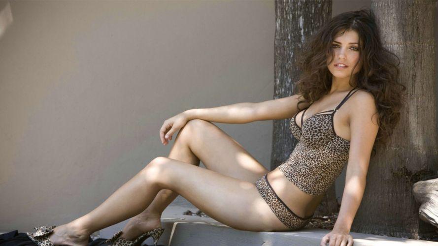 SENSUALITY - girl women brunette Yolanthe Cabau Van Kasbergen lingerie pose wallpaper
