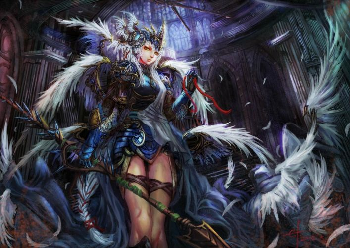 fantasy warrior queen wallpaper