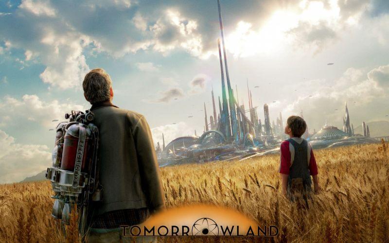 TOMORROWLAND action adventure mystery sci-fi fantasy disney 1tomorrow city cities wallpaper