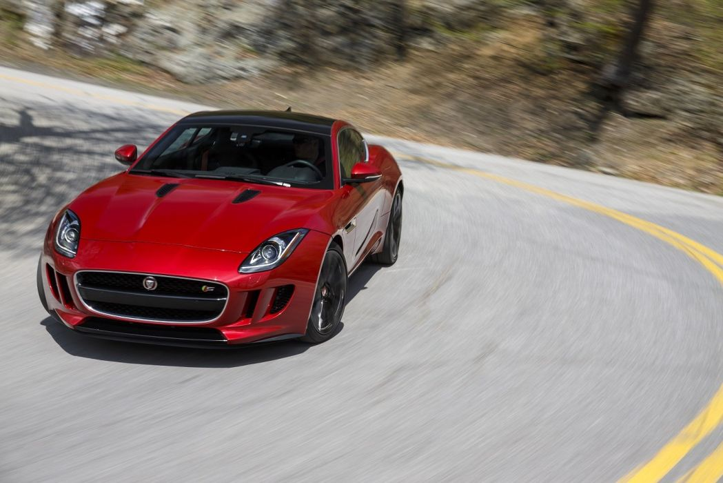 2015 Jaguar F-Type-S Coupe US-spec cars red wallpaper