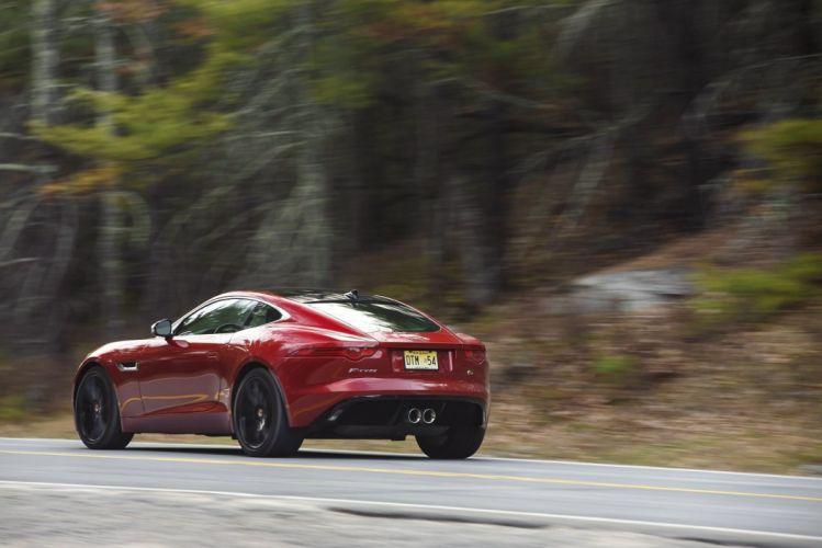 2015 Jaguar F-Type-S Coupe US-spec cars red wallpaper