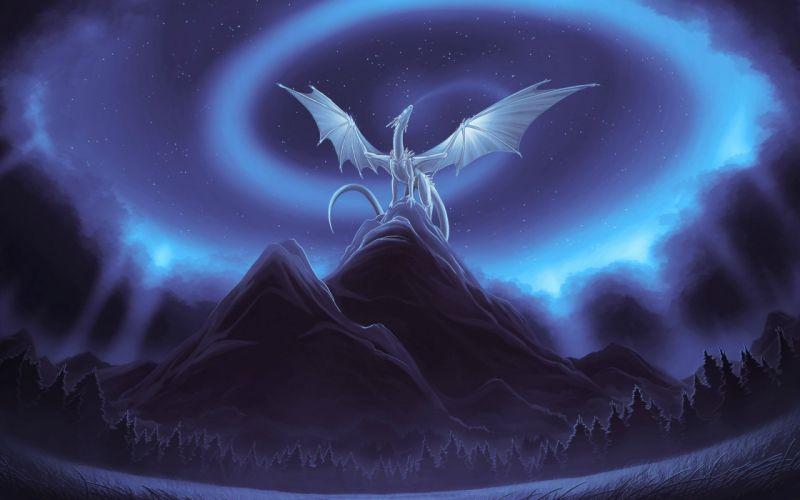 ARTS - 3D drawing fantasy dragon Cold World wallpaper