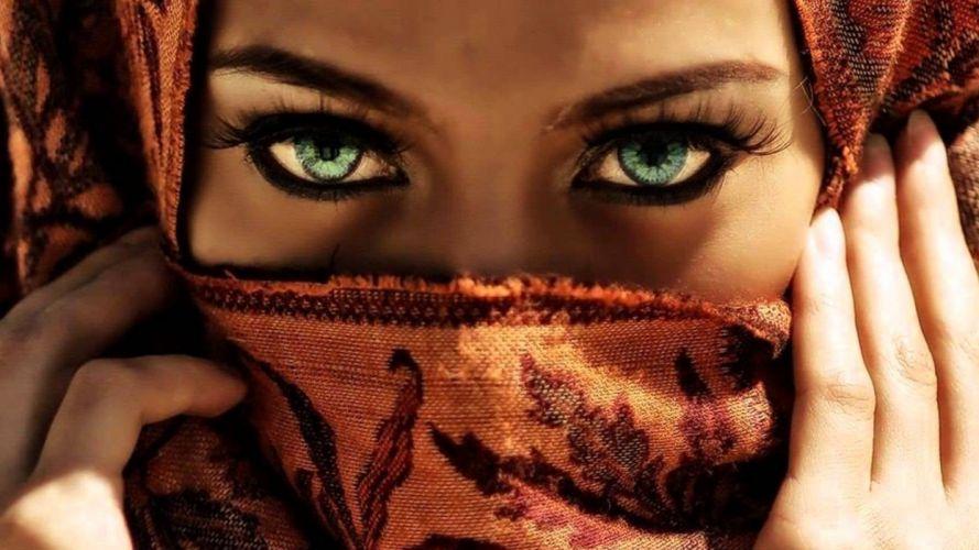 FACE - girl women brunette captivating eyes sharp abstract wallpaper