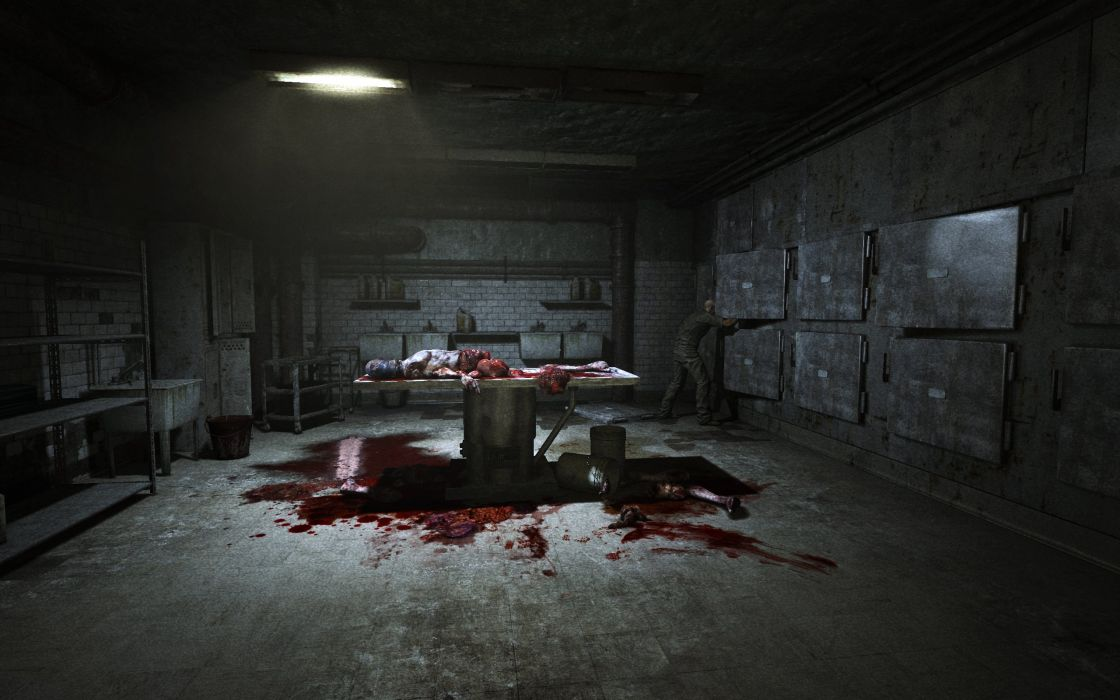 GAMES - outlast fear terror autopsy wallpaper