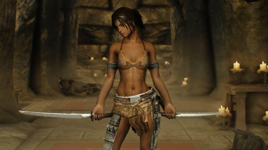 GAMES - skyrim warrior mod 5 wallpaper