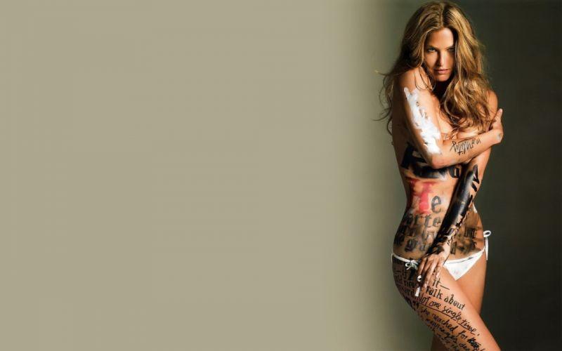 SENSUALITY - girl women brunette bodyart bar refaeli wallpaper