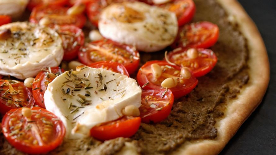 pizzas queso tomate wallpaper
