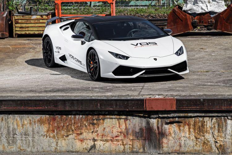 2015 VOS Lamborghini Huracan supercars cars white tuning modified wallpaper