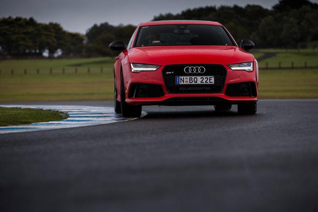 cars Audi RS7 Sportback AU-spec 2015 wallpaper
