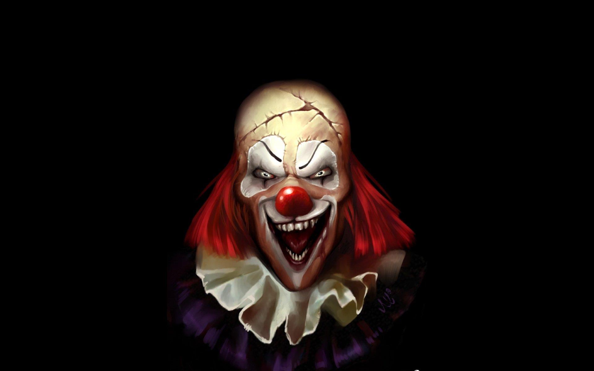 Dark horror evil clown art artwork f wallpaper | 1920x1200 ...