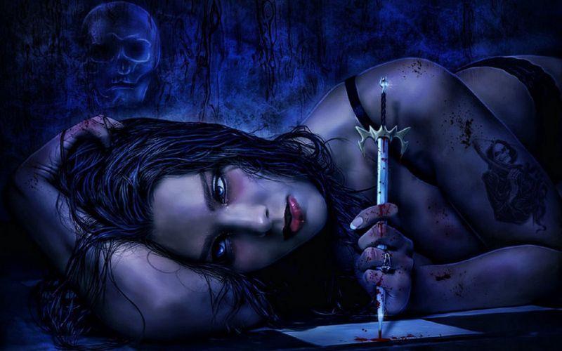 gothic girl wallpaper