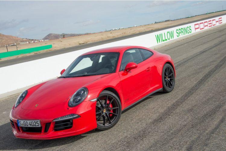 2015 Porsche 911 Carrera GTS cars coupe red wallpaper
