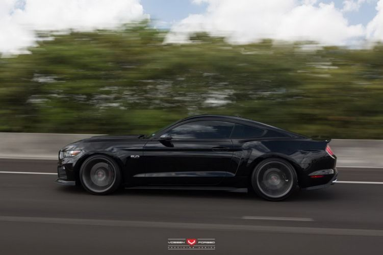 2015 ROUSH Mustang-gt coupe cars black modified wallpaper