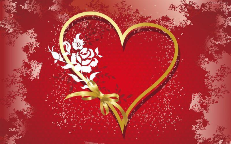 corazon rojo flores amor wallpaper