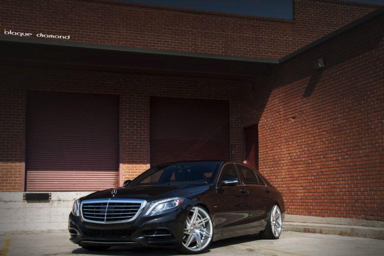 Mercedes Benz S550 sedan black cars tuning wheels wallpaper