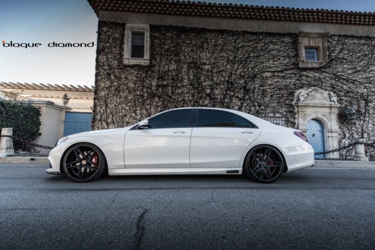 2014 Mercedes Benz S63 white sedan cars tuning wheels wallpaper