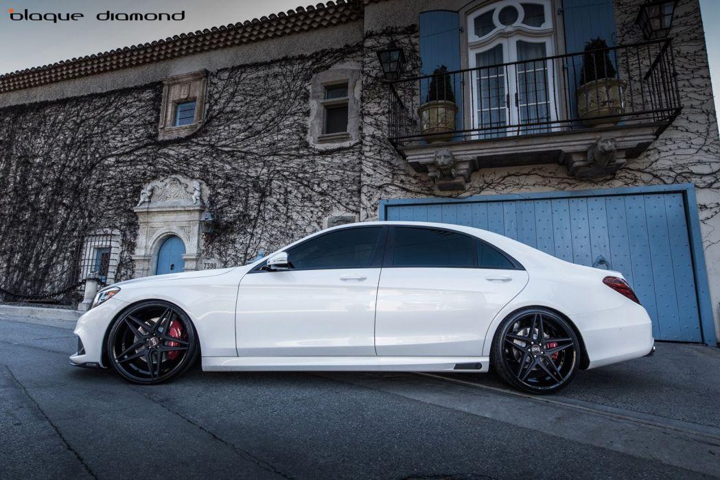 2014 Mercedes Benz S63 white sedan cars tuning wheels wallpaper