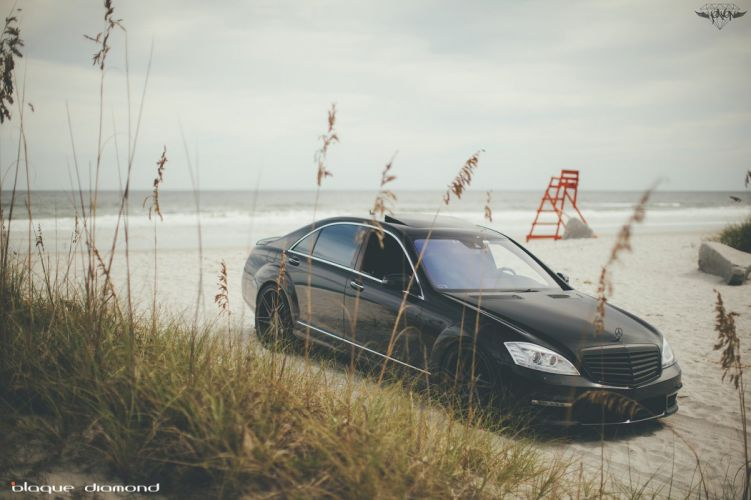 Mercedes Benz S550 black cars tuning wheels wallpaper