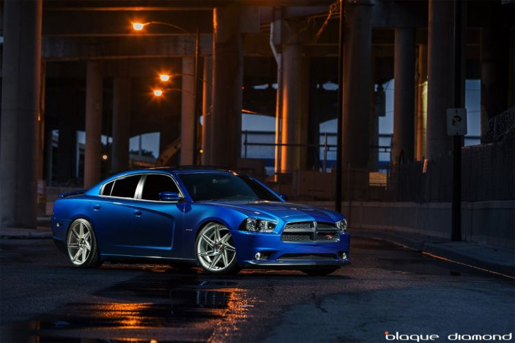 Dodge Charger RT blue cars tuning wheels wallpaper