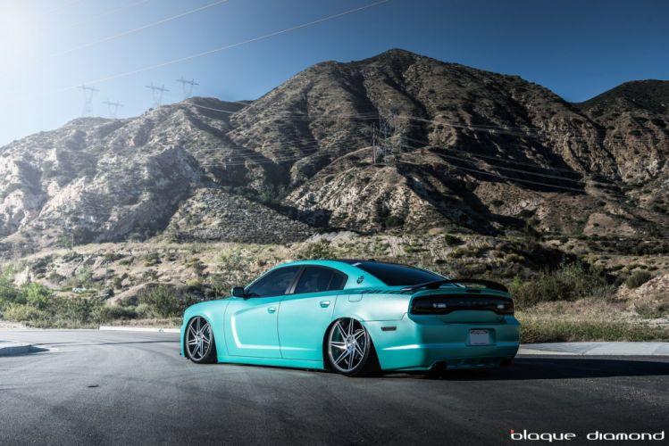 Dodge Charger RT blue Daytona modified cars tuning wheels wallpaper