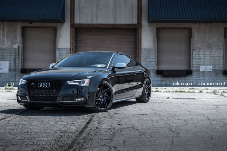 Audi-s5 black coupe cars tuning wheels wallpaper