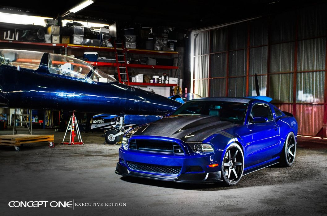 Ford Mustang Gt Blue Coupe Modified Cars Tuning Wheels