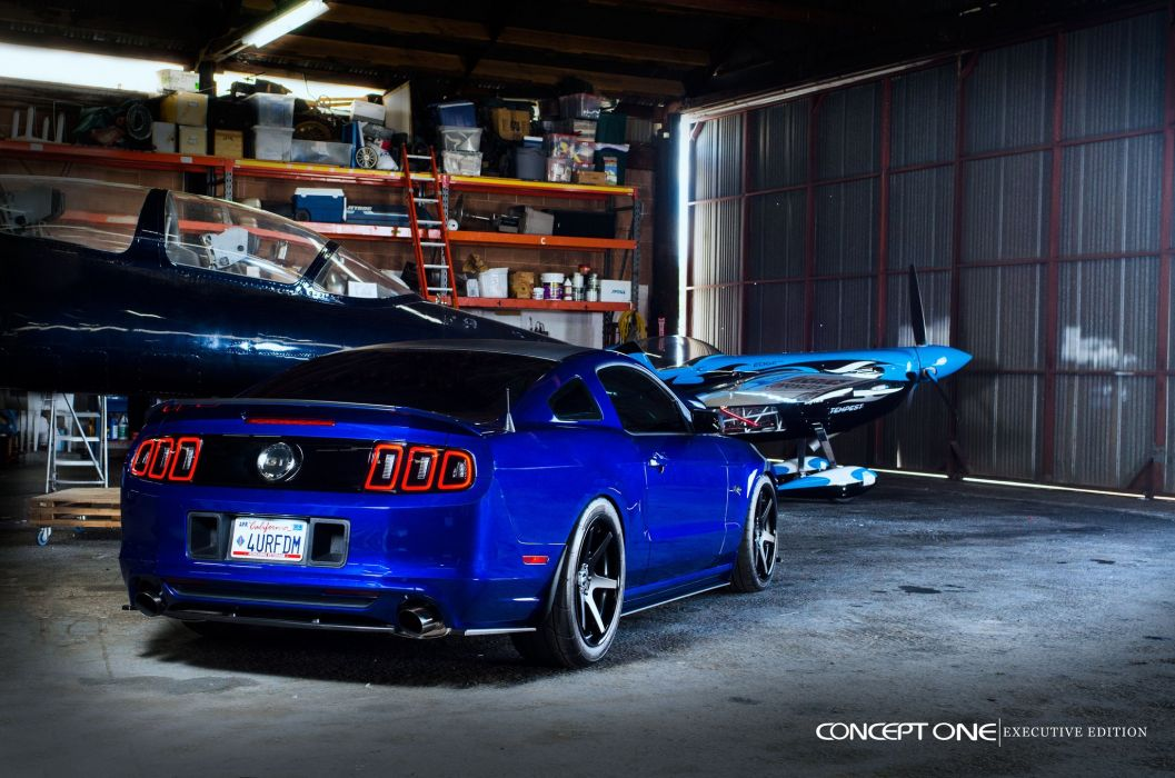 Ford Mustang-GT blue coupe modified cars tuning wheels wallpaper
