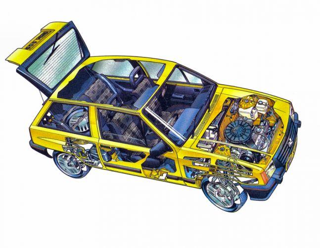 Vauxhall Nova technical cars cutaway wallpaper