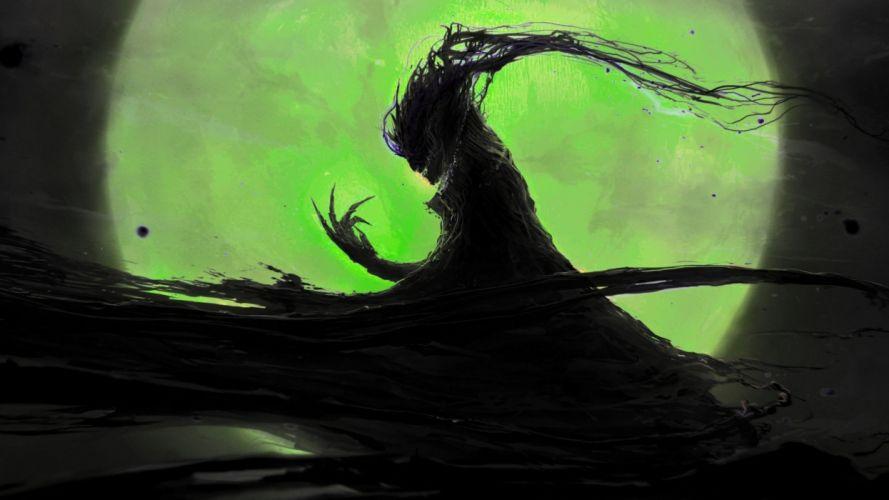 demon evil dark horror fantasy monster art artwork wallpaper