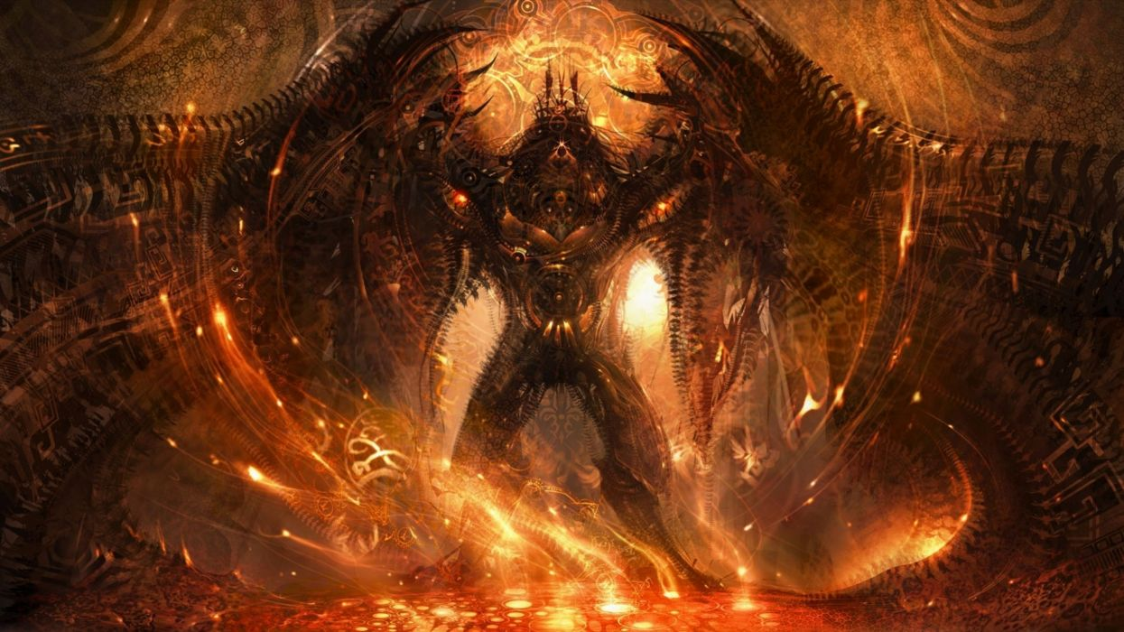 demon evil dark horror fantasy monster art artwork wallpaper