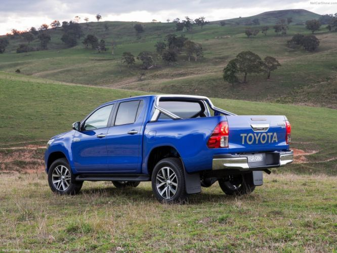 Toyota HiLux 2016 pickup 4x4 cars blue wallpaper